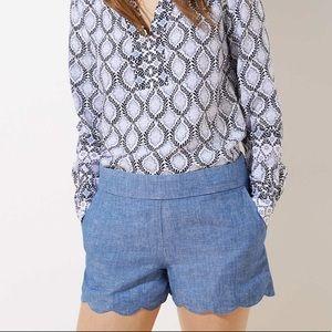 Lovely scalloped Loft shorts
